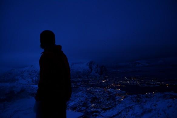 Svolvær fra Tjeldbergtind lørdag kveld